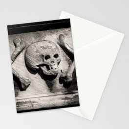 Gothic Skull and Bones Stationery Cards