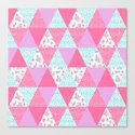Bright quilt triangle cheater quilt pattern florals modern color palette gifts for nursery by charlottewinter
