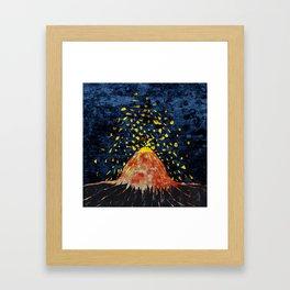 Erupting volcano Framed Art Print