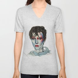 Ashes to Ashes Bowie Unisex V-Neck
