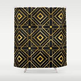 Exotic Art Deco Breathtaking Geometric Design Shower Curtain
