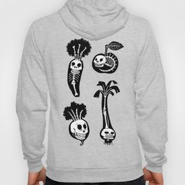 X-rays vegetables (black background) Hoody
