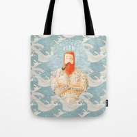 waves Tote Bags featuring Sailor by Seaside Spirit