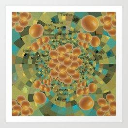 An Orange Clock of Work Pun, 2.0 Art Print