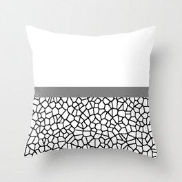 staklo (gray stripe) Throw Pillow