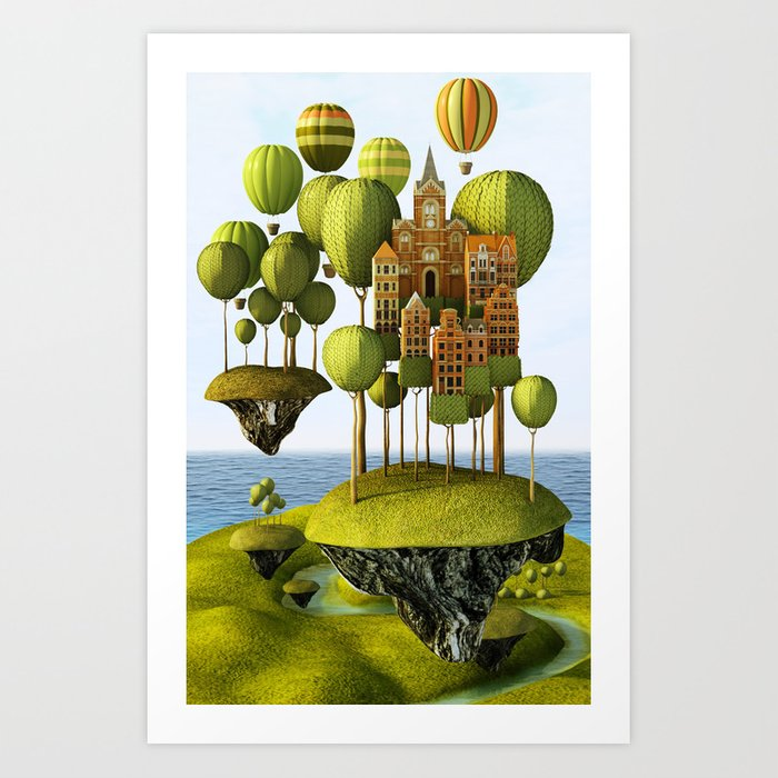 City in the Sky Art Print