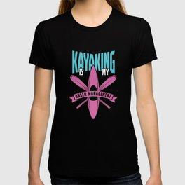 Funny Kayaker Kayaking Is My Anger Management Kayak T-shirt