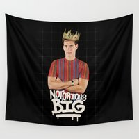 notorious Wall Tapestries featuring Notorious BIG by Alpha-Tone