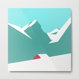 icy mountain Metal Print
