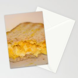 Egg salad with Oatmeal Toast Stationery Cards