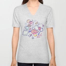 Tea and cookies Unisex V-Neck