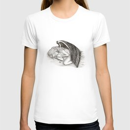 A sleeping Angel , Black and white Design T-shirt