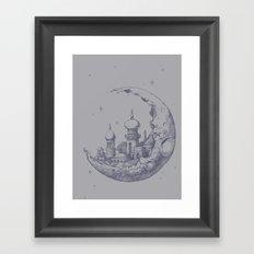 An Arabian Crescent Framed Art Print