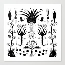 Abundance in Black Canvas Print