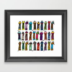 Slithery Socks Framed Art Print