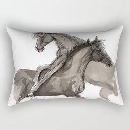 Arabian foals ink art Rectangular Pillow