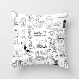 Inktober 2017 Throw Pillow