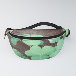 Photography of Green Floral for gardening fans and plants lovers  Fanny Pack