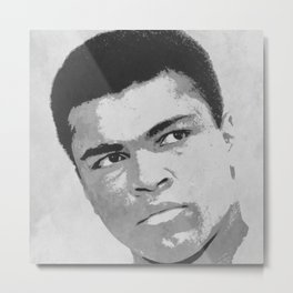 """Muhammad """"The Greatest Of All Time"""" Ali - BLM - Cassius Marcellus Clay Jr. S6 PopArt 665 Metal Print"""