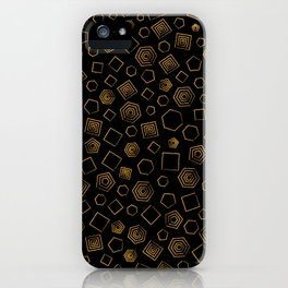 Polygons on Black background iPhone Case