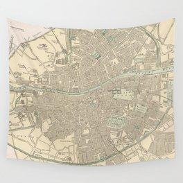 Vintage Map of Dublin Ireland (1901) Wall Tapestry