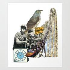 Navigate The Roller Coaster Ride Of Life Art Print