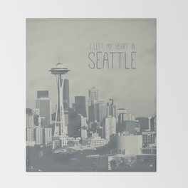 I LEFT MY HEART IN SEATTLE Throw Blanket