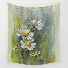 Gouache Daisies Wall Tapestry