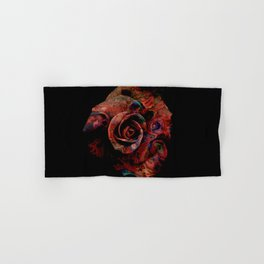 Fluid Nature - Marbled Red Rose Hand & Bath Towel