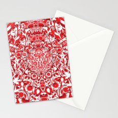 Illusionary Daisy (Red) Stationery Cards