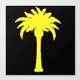Yellow Palm Tree Canvas Print