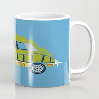 1975 Mugs featuring Death Race 2000 Alligator Van by Brandon Ortwein