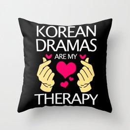 Kdrama Lover Korean Dramas Are My Therapy Korea Throw Pillow