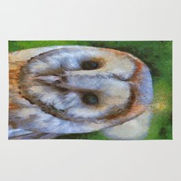 Tawny Owl In The Style of Camille Rug
