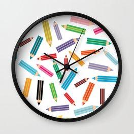 pencils Wall Clock