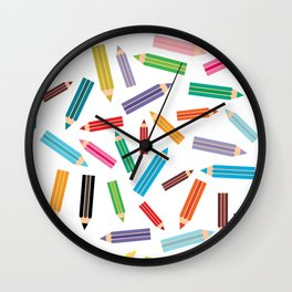 pencils Wall Clock