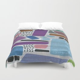 Abstract print, mid century style vintage looking pattern Duvet Cover