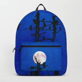 Moonlit bird silhouettes Backpack