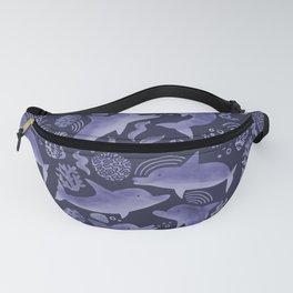 Dolphin Print - Indigo & Light Purple Fanny Pack