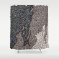 shadow Shower Curtains featuring Shadow by dominiquelandau