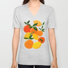 Oranges and Lemons Unisex V-Neck