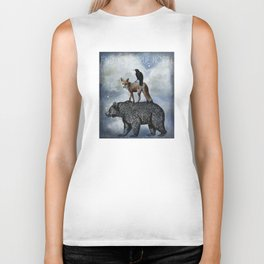 True North Bear Fox And Crow Biker Tank