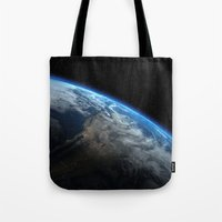 earth Tote Bags featuring Earth by Space99