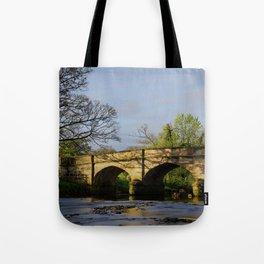 River Manifold Bridge Ilam Village Tote Bag