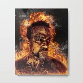 Fiery Flanery Metal Print