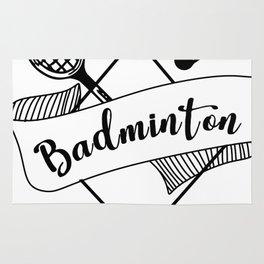 Trendy Badminton Design Rug