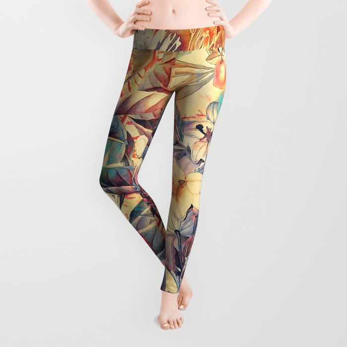 flowers 8 Leggings