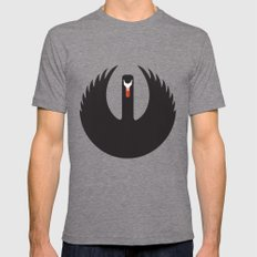 The Black Swan LARGE Tri-Grey Mens Fitted Tee