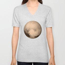 Pluto The Dwarf Planet In The Kuiper Belt Unisex V-Neck