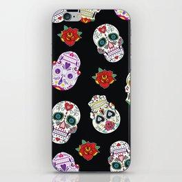 Sugar Skull Pattern iPhone Skin